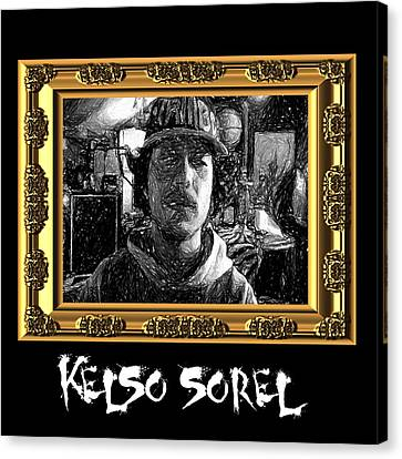 Canvas Print featuring the painting Kelso Sorel by Chief Hachibi