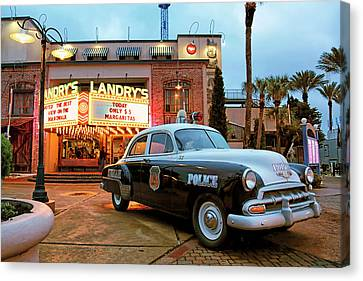 Canvas Print featuring the photograph Kemah Police Car At The Kemah Boardwalk - Texas by Jason Politte