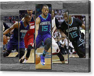 Kemba Walker Charlotte Hornets Canvas Print by Joe Hamilton