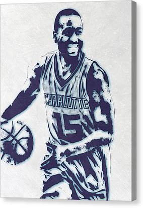 Kemba Walker Charlotte Hornets Pixel Art 2 Canvas Print by Joe Hamilton