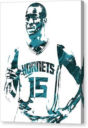 Kemba Walker Charlotte Hornets Pixel Art 4 Canvas Print by Joe Hamilton