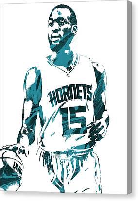 Kemba Walker Charlotte Hornets Pixel Art 5 Canvas Print by Joe Hamilton