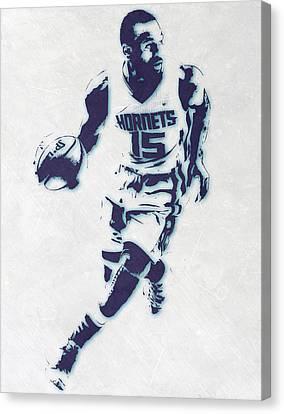 Kemba Walker Charlotte Hornets Pixel Art Canvas Print by Joe Hamilton