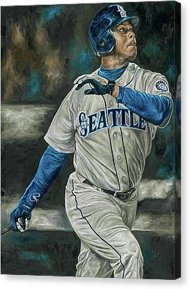 Ken Griffey Jr Canvas Print by David Courson