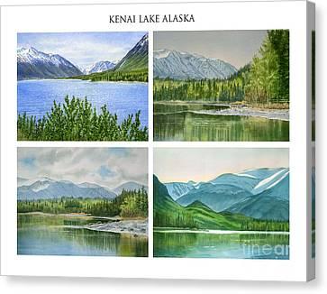 Kenai Lake Alaska Poster With Title Canvas Print by Sharon Freeman