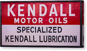 Kendall Motor Oils Sign Canvas Print by Chris Flees