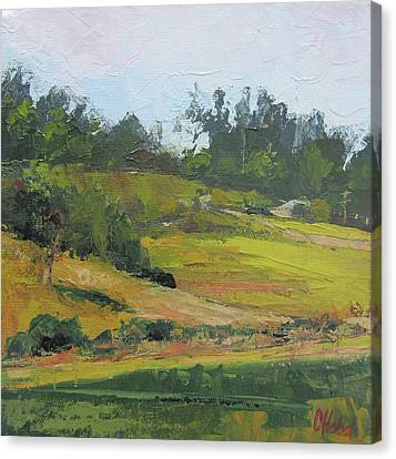 Canvas Print featuring the painting Kenilworth Hills Queensland Australia by Chris Hobel
