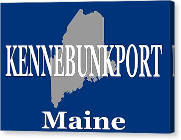 Canvas Print featuring the photograph Kennebunk Maine State City And Town Pride  by Keith Webber Jr