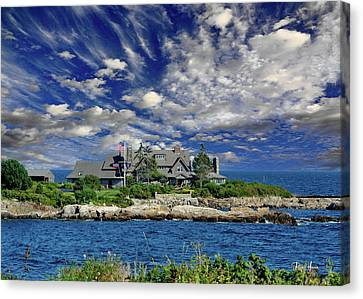 Kennebunkport, Maine - Walker's Point Canvas Print by Russ Harris