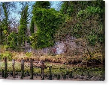 Canvas Print featuring the photograph Kennetpans Distillery Ruins by Jeremy Lavender Photography