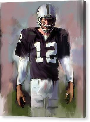 Kenny Stabler  Agony Of Greatness Iv Canvas Print by Iconic Images Art Gallery David Pucciarelli