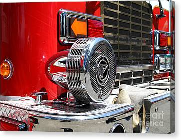 Kensington Fire District Fire Engine Siren . 7d15879 Canvas Print by Wingsdomain Art and Photography