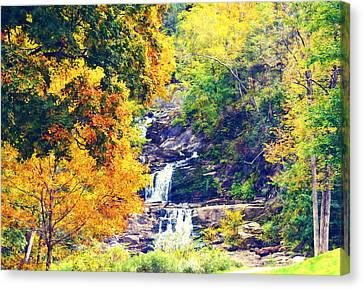 Kent Connecticut Canvas Print - Kent Falls In Fall by Erin Conover