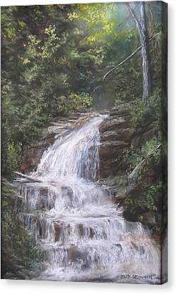 Canvas Print featuring the pastel Kent Falls by Jack Skinner