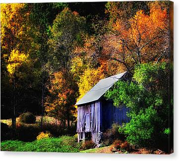 Kent Hollow II - New England Rustic Barn Canvas Print by Thomas Schoeller