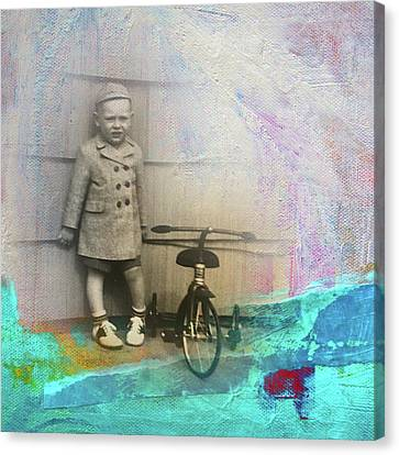 Canvas Print featuring the mixed media Kent Tricycle by Nancy Merkle