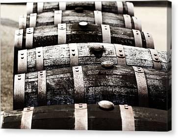 Kentucky Bourbon Barrels Canvas Print by Robert Glover