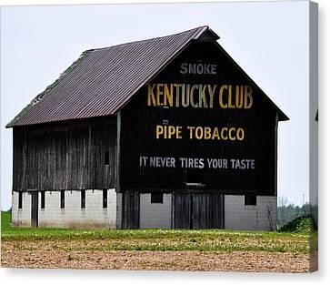 Kentucky Club Pipe Tobacco Barn Canvas Print by Robert Habermehl