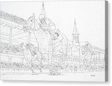 Kentucky Derby - Win, Place, Show Canvas Print by Mike Rabe