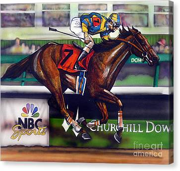 Kentucky Derby Winner Street Sense Canvas Print by Dave Olsen