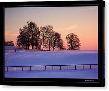 Kentucky Morning Snow Canvas Print by Keith Bridgman