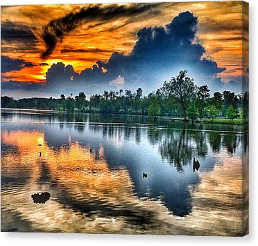 Canvas Print featuring the photograph Kentucky Sunset June 2016 by Sumoflam Photography