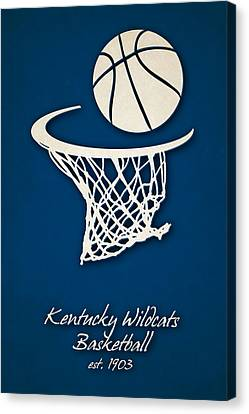 Kentucky Wildcats Canvas Print - Kentucky Wildcats Basketball by Joe Hamilton