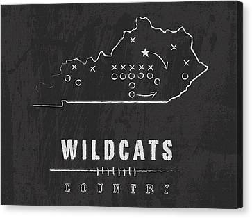 Kentucky Wildcats Canvas Print - Kentucky Wildcats Country by Damon Gray