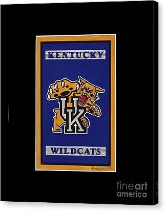 Ky Wildcats Logo T-shirt Canvas Print