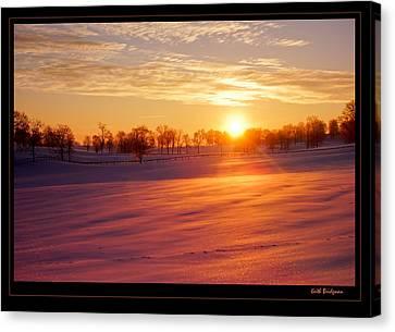 Kentucky Winter Sunrise Canvas Print by Keith Bridgman