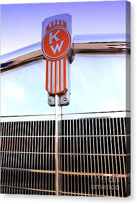Kenworth Insignia And Grill Canvas Print