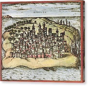 Kenya: Mombasa, 1572 Canvas Print by Granger
