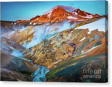 River Scenes Canvas Print - Kerlingarfjoll Dusk by Inge Johnsson