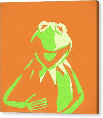 Singing Canvas Print - Kermit The Frog by Dan Sproul