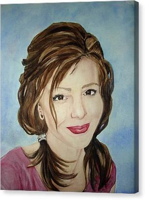 Kerra Lindsey  Self Portrait Canvas Print by Kerra Lindsey