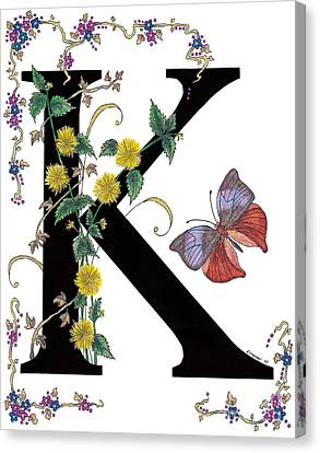Kerria Japonica And Koh-i-noor Butterfly Canvas Print by Stanza Widen