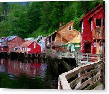 Ketchikan Alaska Canvas Print by David Hansen
