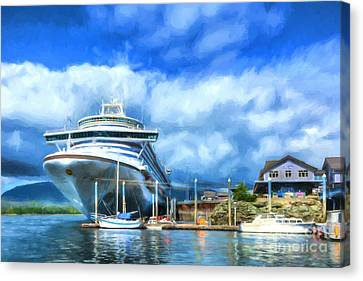 Ketchikan Harbor Canvas Print by Mel Steinhauer