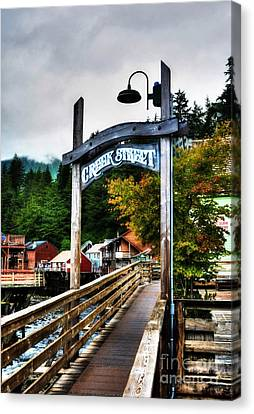 Ketchikan's Creek Street Canvas Print by Mel Steinhauer