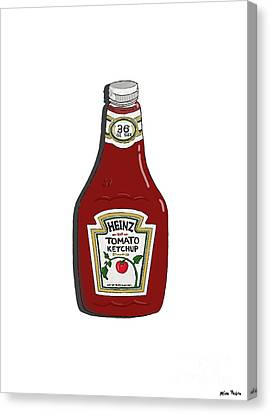 Ketchup Canvas Print by George Pedro