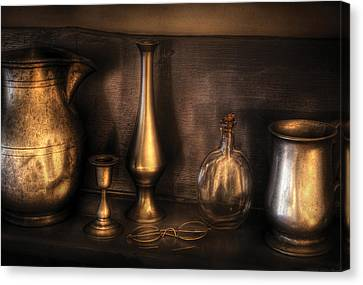 Kettle - Ready For A Drink Canvas Print by Mike Savad