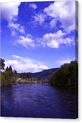Kettle River High Water Grand Forks Bc Canvas Print by Barbara St Jean