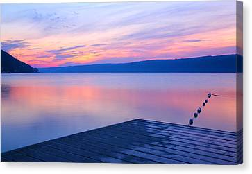 Keuka Canvas Print - Keuka At Dawn  by Steven Ainsworth