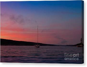 Keuka Lake Canvas Print - Keuka Lake Sunrise by Steve Clough
