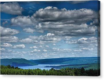 Pastoral Vineyard Canvas Print - Keuka Landscape Iv by Steven Ainsworth