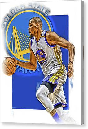 Kevin Durant Golden State Warriors Oil Art Canvas Print by Joe Hamilton