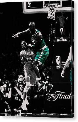 Kevin Garnett Not In Here Canvas Print by Brian Reaves