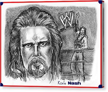 Kevin Nash Outsider Canvas Print by Chris  DelVecchio