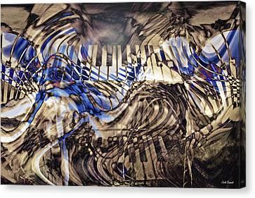 Music Inspired Art Canvas Print - Key Dreaming by Linda Sannuti