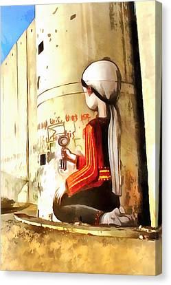 Separation Canvas Print - Key Girl by Munir Alawi